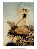 One Aloof Stand Sentinel - A Midsummer Night's Dream Prints by Arthur Rackham