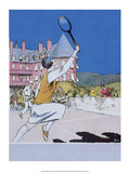 Retro Tennis Poster, Woman Player, 1925 Posters
