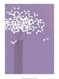 Flowers in Lilac Vase Posters by Takashi Sakai