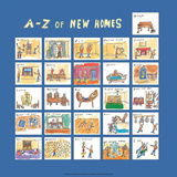 A - Z of New Homes Prints by Nicola Streeten