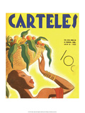 Carteles, Retro Cuban Magazine, Fruit Basket Poster