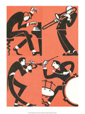 Vintage Russian Matchbox Label, Musicians II Prints