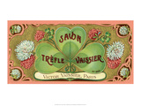 Vintage Art Deco Label, Savon Trefle Vaissier Prints