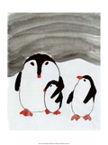 Chinese Penguin Family Print