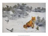 Fox Posters af Bruno Liljefors