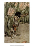 He Popped in Alarm Behind a Tulip Prints by Arthur Rackham