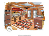 Mid Century Modern Kitchen, Western Art