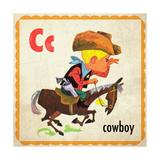 Vintage ABC- C Giclee Print