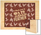 Tail Feather Wood Print