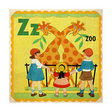 Vintage ABC- Z Giclee Print