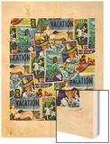 Travel Poster 2 Wood Print