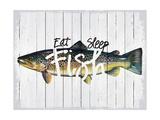 Eat, Sleep, Fish Gicléedruk