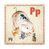 Vintage ABC- P Giclee Print
