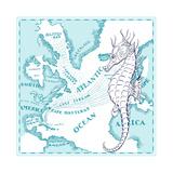 Nautical Seahorse Giclee Print