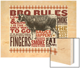 Barbecue cow Wood Print