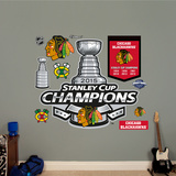 Chicago Blackhawks 2015 Stanley Cup Champions Logo Wall Decal
