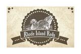 Rhode Island Reds 2 Giclee Print
