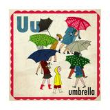 Vintage ABC- U Giclee Print