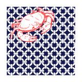 Nautical Crab Giclee Print