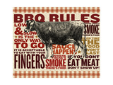 Barbecue cow Giclee Print