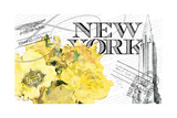 Floral Travel New York 2 Giclee Print