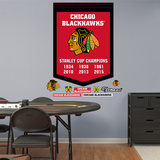 Chicago Blackhawks Stanley Cup Champs Banner Wall Decal