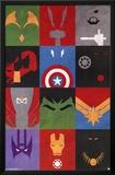 Avengers - Minimalist Grid Posters