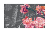 Floral Travel Pisa Giclee Print