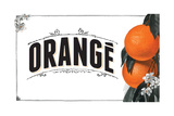 French Produce Orange Giclee Print