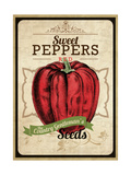 Vintage Sweet Pepper Seed Packet Giclee Print
