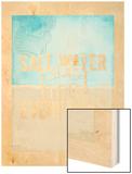 Salt Water Wood Print