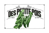 French Produce Peas Giclee Print