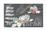 Floral Travel Japan Giclee Print