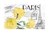 Floral Travel Paris Giclee Print
