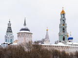 Sergiev Posad. Snow-Covered Domes of Holy Trinity-Sergius Lavra in Winter Photographic Print by  vicsa