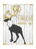 Wake Up Moose Giclee Print