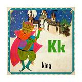 Vintage ABC- K Giclee Print