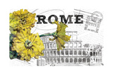 Floral Travel Rome Giclee Print