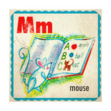 Vintage ABC- M Giclee Print
