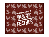 Tail Feather Giclee Print