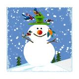 Snowman Blue 2 Giclee Print