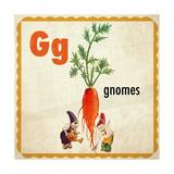 Vintage ABC- G Giclee Print