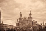 National Historic Museum at Red Square in Moscow Photographic Print by  Banauke