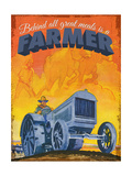 Farmer at Work Giclee Print