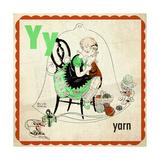 Vintage ABC- Y Giclee Print