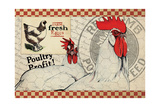 Checkered Chicken 8 Giclee Print