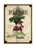 Vintage Radish Seed Packet Giclee Print