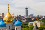 Russia, Moscow, May 2013 - View of Moscow from the Bell Tower of the Novospassky Monastery. Moscow Photographic Print by  viktoriagam
