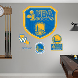 Golden State Warriors 2015 NBA Champions Logo Wall Decal