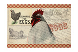 Checkered Chicken 7 Giclee Print